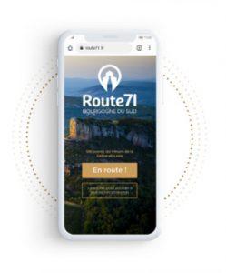 L'appli web Route71