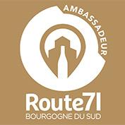 logo ambassadeur route71 pour les pros du tourisme